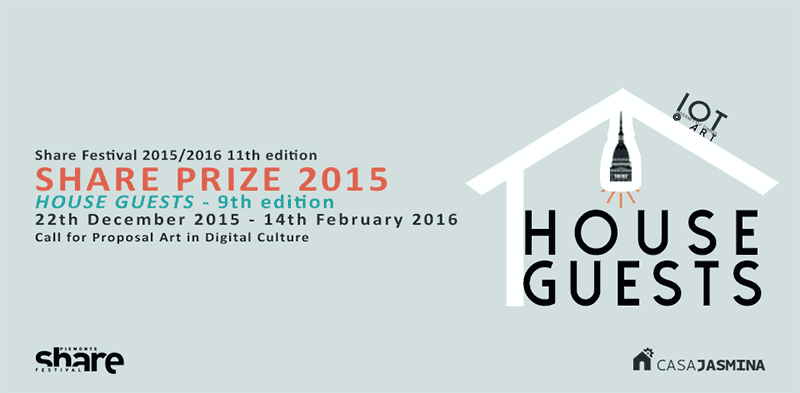 Call for entries - Piemonte Share Prize 2016 ('House Guests') - deadline 14 February 2016