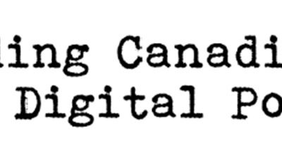 Call for papers: Decoding Canadian Digital Poetics - deadline 28 February 2017