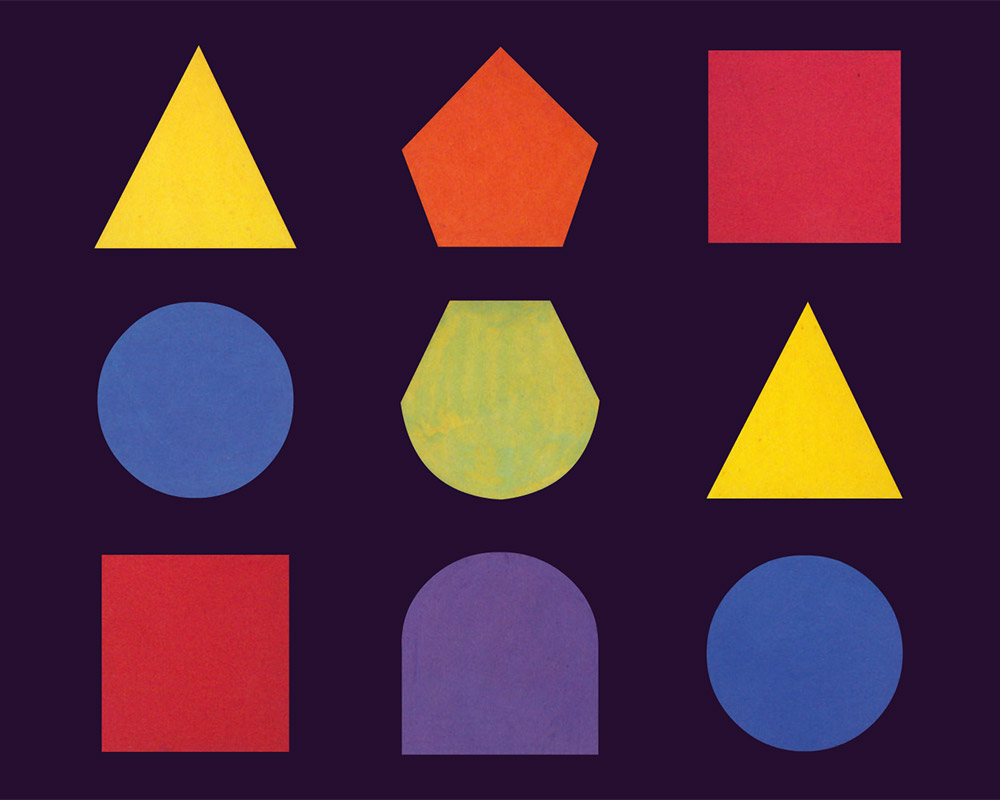 7 studies on the correspondence between colours and forms