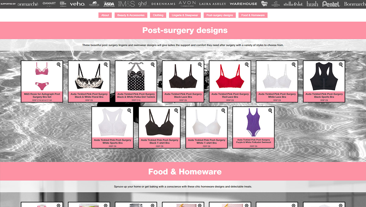 Breast Cancer Now Lookbook 2015