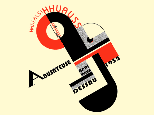 Poster for the Exhibition #remix #bauhaus